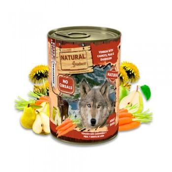 Natural Greatness de venado con zanahoria, pera y diente de león lata 400g