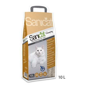 Sanicat lecho para gatos aglomerante 10L